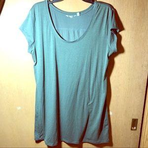 Athleta Olive Green Tunic Tee Shirt